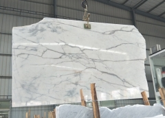 Calacatte White Marble Big Slab Polished China Factory