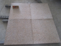 Rusty Yellow G682 Granite Tiles Flamed Finish