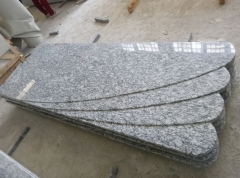 Spary White Granite Tombstone Wholesale