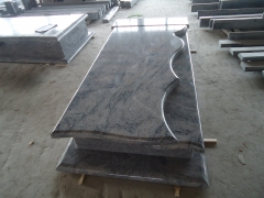 Tombstone Material Sand Wave Stone Monuments for Poland Market