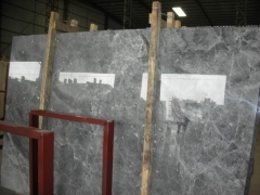 Grey Color Silver Ermine Marble Slabs With Polished Finish Way