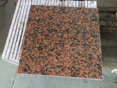 Maple Red G562 Granite Tiles with Polished Way