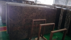 Brown Color Dark Emperador Marble Slabs With Polished Finish Way