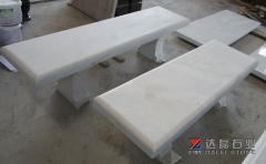Chinese White Marble  Table Chair