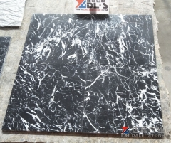 Chinese Black Marble Tiles Nero Marquina New Quarry Honed Finish