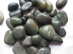 Green Color Pebble Stone