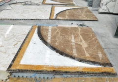 Beige White Marble Tiles For Lobby Project