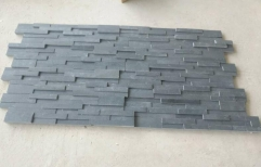 China Black Granite Slate Tiles Honed Finish Way