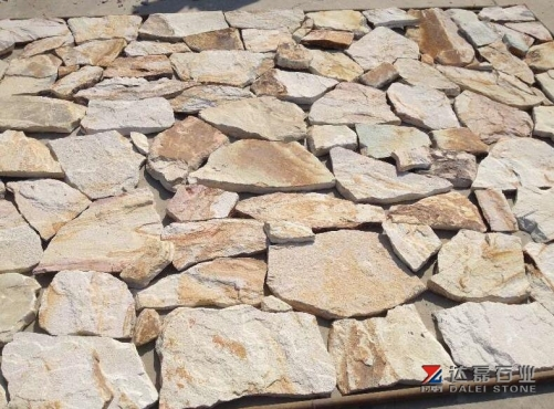 Double Color Sand Stone Slate Tiles Natural Surface