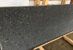 Angola Black Granite Small Slabs Saw Cutting And Waterjet Finish Way