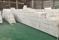 China Local White Marble Thin Tiles Polished Floor Project