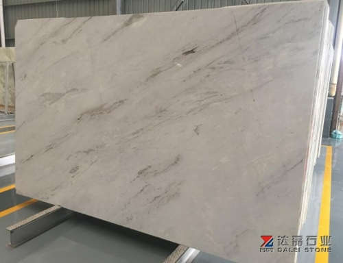 China Local White Marble Big Slabs Grey Veins