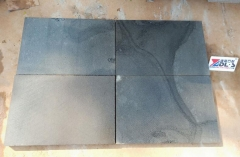 Blue Basalt Tiles Saw Cutting Black Basalt Cat Paws