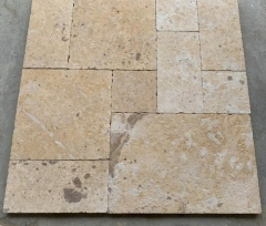 Beige Marble Tiles French Pattern Antique Finish Way