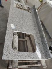 White Grey Sesame Granite Countertops Sink