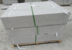 G603 Paving Granite Steps Stone Cubrstone Grey Color 6 Sides Flamed