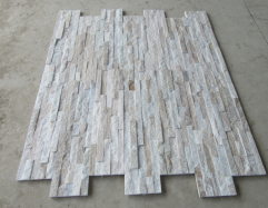 Golden Line Yellow White Wooden Culture Stone Tiles