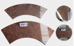 Multicolor Red Granite Tiles Polished Way