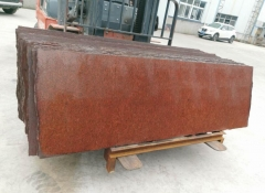 Popular Dyed Red Granite Small Slabs Polished